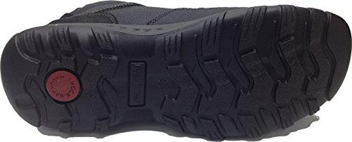 Imac - Zapatillas de Piel para hombre Negro negro