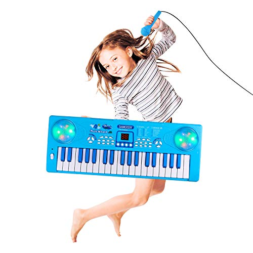 Blue Piano Keyboard for 3-8 Year Old