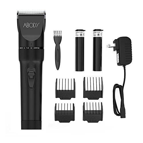 Abody Hair Clipper Cordless Hair Trimmer Electric Hair Shaver Ceramic Titanium Blade for Adults & Babies
