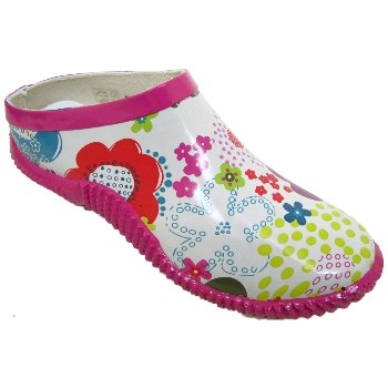 Pink White Flower Slip On Garden Gardening Clogs Shoes Amazonco