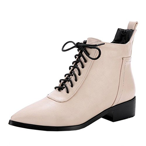 Up Fashion Women Boots Beige KemeKiss Lace I1aA5wqq