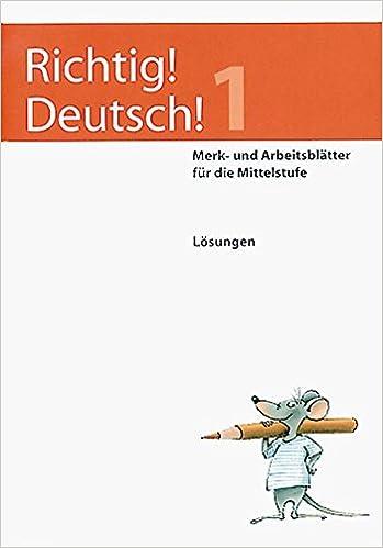 Richtig Deutsch 1 Lösungen Merk Und Arbeitsblätter Für