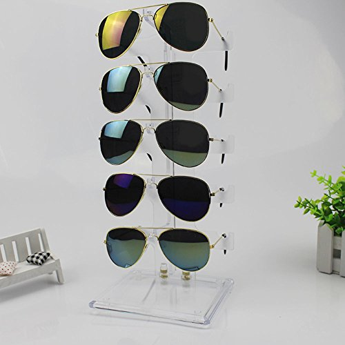 Plastic Sunglasses Holder Display Stand Eyewear Rack for 5 - Sunglass Stand