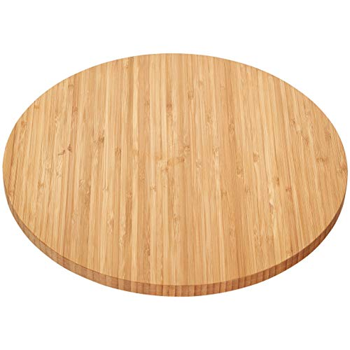 Home Intuition Bamboo Wooden Lazy Susan Turntable 13.5 Inch Diameter (14 Susan Lazy Turntable)