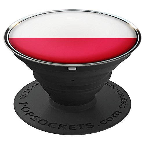 Poland Polska Flag Pride - PopSockets Grip and Stand for Phones and ()