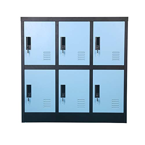 Small Office Storage Locker Cabinet Organizer for Employee,School Locker for Kids Mini Size (Blue, W6D)