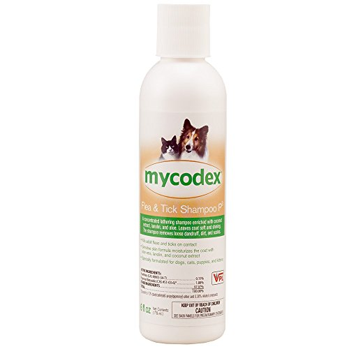 Mycodex Shampoo with 3X Pyrethrins (6oz) (Flea Shampoo Lice)