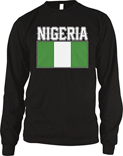 - Amdesco Men's Nigerian Flag, Love Home, Flag of Nigeria Thermal Shirt, Black Large