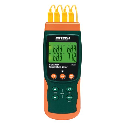 Extech SDL200 Four-Channel Thermometer SD Logger by Extech
