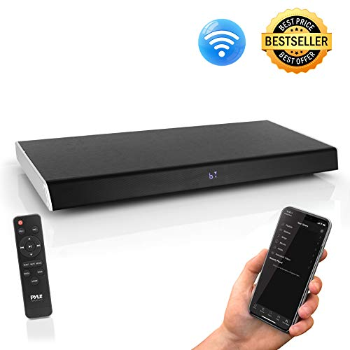 Surround Sound TV Sound Bar - Bluetooth Compatible Wireless Soundbar for TV w/Built in Subwoofer Speaker - Television Sound Bar System w/LCD/HDMI/Optical/RCA/AUX/USB/Coaxial - PyleHome PSBV630HDBT.5 (Television Surround Sound)