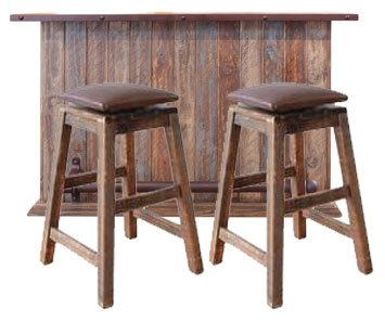 2 Day Designs Reclaimed 24-Inch Stave Wine Barrel Counter Stool with Wood Seat ()