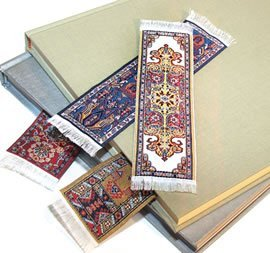 FOLIO by fun-n-nuf Bookmarks Red Tabriz Authentic Woven Oriental Carpet Photo #2