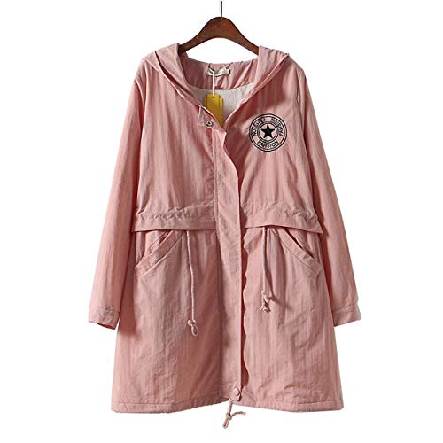(Womens Classic Quilted Jacket Short Bomber Jacket Coat Pink)