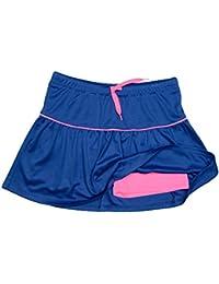 Girls Athletic Tennis Skort Running Active Yoga Gym Mesh Activewear Shorts