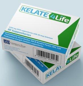 Kelate 4 Life Suppositories 1250mg Calcium Disodium EDTA