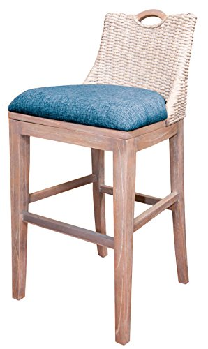 - Alexander Sheridan BLZ10130-RWD Belize Barstool in Rustic Driftwood Finish, 30