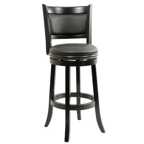 Boraam 45829 Augusta Bar Height Swivel Stool, 29-Inch, Black ()