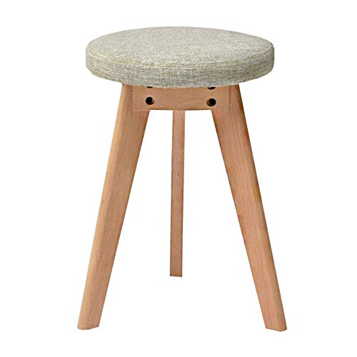 ist Home Table Stool Fashion Nordic Small Bench Solid Wood Footstool Round Stool WEIYV (Color : Suyan, Size : 4045cm) ()