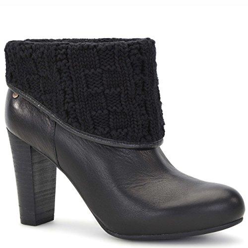 UGG Women's Dandylion Tres Black Knit/Leather Boot 12 B (M) JltZcZR