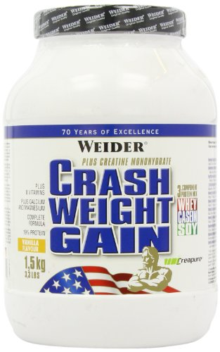 Weider Crash Weight Gain Vanille, 1er Pack (1 x 1.5 kg)