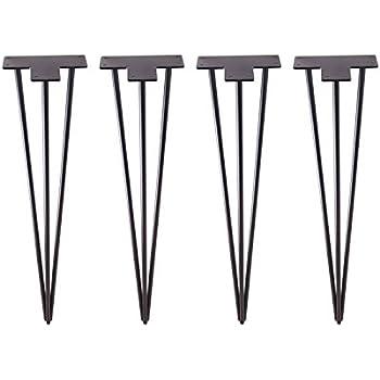 Set of 4 Set of 4 34/'/' Matte Black 34 Hairpin Legs 34 ECLVTECH DIY Industrial Strength Mid Century Modern Table Legs