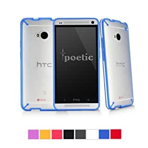 HTC One M7 Case - Poetic HTC One M7 Case [Atmosphere Series] - [Lightweight] [Slim-Fit] Slim-Fit Tranparent Hybrid Case for HTC One M7 Clear/Blue (3 Year Manufacturer Warranty From Poetic)