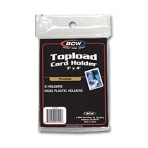 - 5 (Five) Premium 3x4 Topload Card Holders (5 Top Loads/Pack)