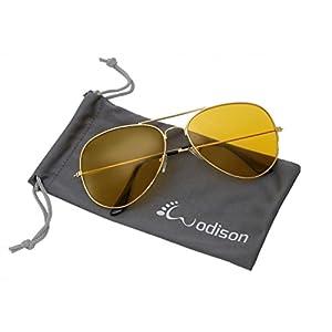 WODISON Vintage Reflective Mirror Lens Metal Frame Aviator Sunglasses Silver Frame Green Mix Blue Lens