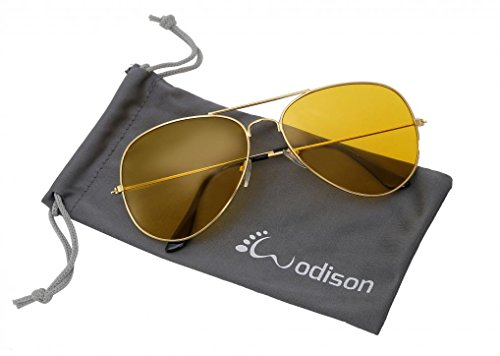 WODISON Vintage Reflective Mirror Lens Metal Frame Aviator Sunglasses Silver Frame Green Mix Blue - Yellow Aviator Sunglasses