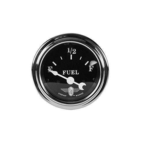 (Stewart Warner 82472 Wings Fuel Level Gauge, Black)