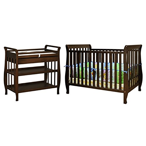 Athena Naomi 4 in 1 Convertible Crib with Changing Table in Espresso by AFG