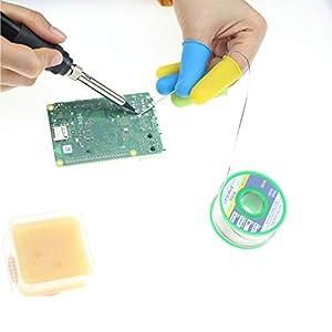Testeronics Soldering Iron Starter Kit for Electronics| 60W Adjustable Temperature Welding Tool| Solder Wire |Desoldering Pump| Helping Hands Soldering Aid| Tweezers |Iron Tip Cleaner