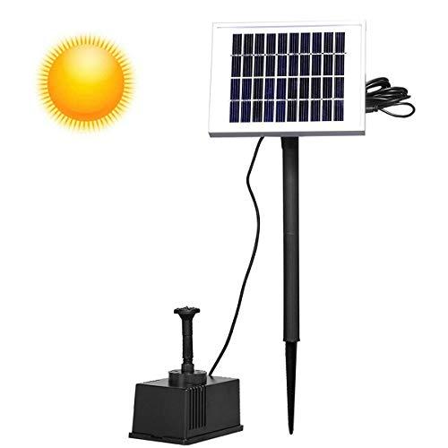 AUFUN Solar Bomba de aguae 5W Bomba de Fuente Solar Bomba para Estanque Patio Flujo Jardin Decoracion
