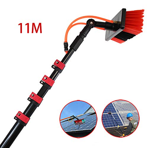 JSZMQD Cleaning photovoltaic and Solar Panels, 3.6-11M Washing Set Equipment Extension Pole Cleaning for Trucks Windows, Window Glass Wall Photovoltaic Panel Cleaning,11m (Glass Panels For Garden Walls)