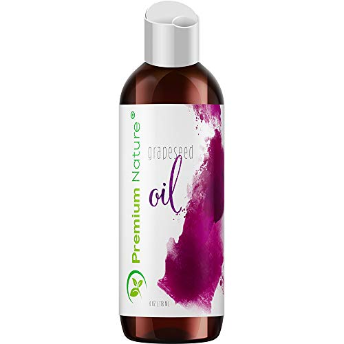 Grapeseed Oil Pure Carrier Oil - Cold Pressed Grape Seed Extract Oil for Essential Oils Mixing Natural Skin Moisturizer Body & Face Massage Lotion for Aromatherapy Nails Packaging May Vary 4 oz