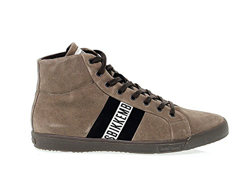 Bikkembergs Men's Bke107280 Brown Suede Hi Top (Bikkembergs Men Shoes)