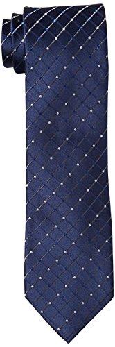 Geoffrey Beene Men's City Grid Tie, Navy, One Size