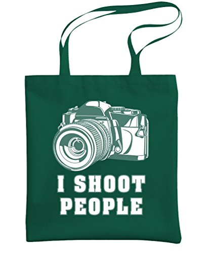 I SHOOT PEOPLE - camera shutterbug photo - Heavy Duty Tote Bag, Forest