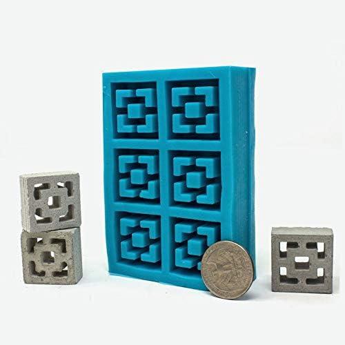 Mini Materials 1:12 Scale Vista View Breeze Block 6pc Mold
