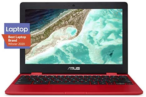 "Asus Chromebook C223 Laptop- 11.6"", Intel Dual-Core Celeron N3350 Processor (Up to two.4GHz) 4GB RAM, 32GB eMMC Storage- C223NA-DH02-RD Red"