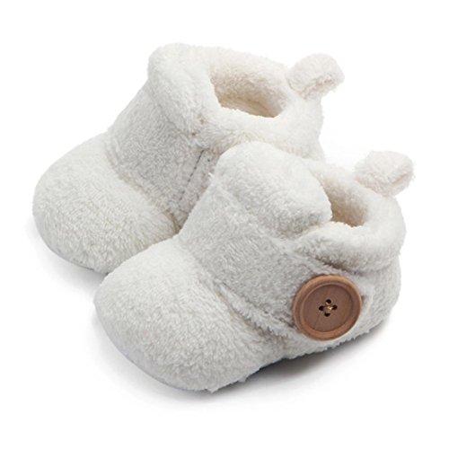 ❆HUHU833 Kinder Mode Baby Soft Sole,Kleinkind Baby Schuhe Anti Rutsch Turnschuhe Junge Mädchen Runde Zehe flache weiche Pantoffel Schuhe Weiß
