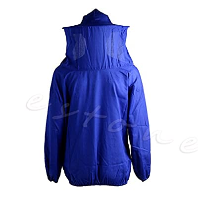 Amrka Beekeeping Jacket Anti-bee Clothing Veil Smock Equipment Supplies Bee Keeping Hat Sleeve Suit (Blue) : Garden & Outdoor