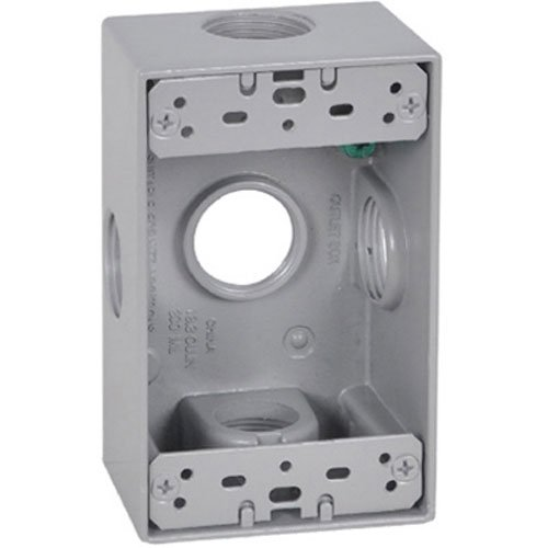 Master Electrician FSB75-5X Weatherproof 1 Gang Rectangular Outlet Box Five 3/4-Inch ()