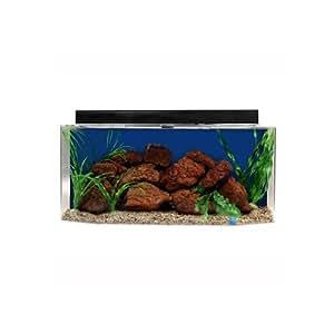 "SeaClear 26 gal Flat Back Hexagon Acrylic Aquarium Combo Set, 36 by 12 by 16"", Cobalt Blue"