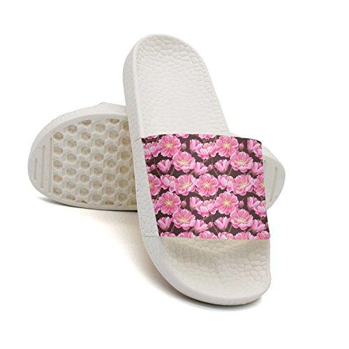 Stems Cherry Blossom Slipper Non Indoor qiopw Sandal Woman for Shower Shoes Bathroom Slip White rtw wqwR8fY