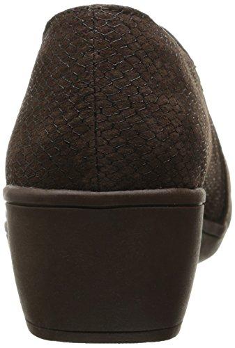 Dress On Multi Women's Chocolate Flexibles Skechers Pump Slip ZqO1ng