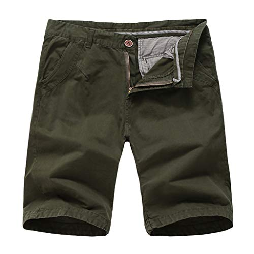 - Seaintheson Men's Shorts, Fashionable Mens Pure Color Short Pant Button-Pocket Wind Overalls Classic Fit Work Shorts Army Green