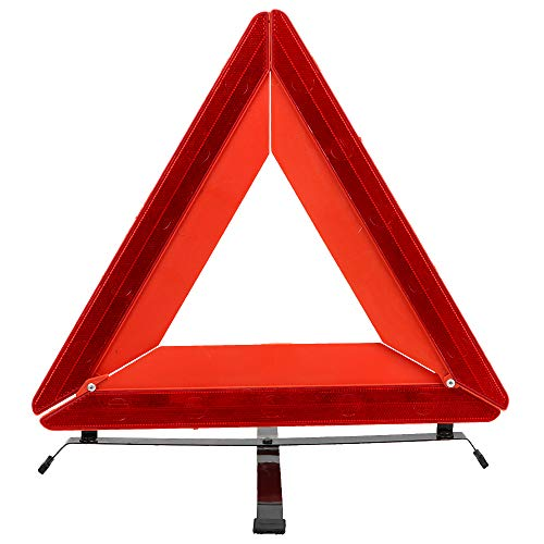 AjaxStore - Red Triangle Car Stop Warning Sign Reflective Stop Sign Board Emergency Danger Warning Auto Breakdown Board Safety Parking