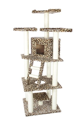 76″ Cat Tree Condo Furniture Scratch Post Pet House 28L, My Pet Supplies