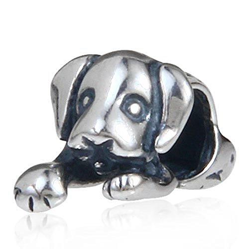 Sleepy Adorable Maison pour chien chiot animal en argent sterling 925perle Pandora charmes